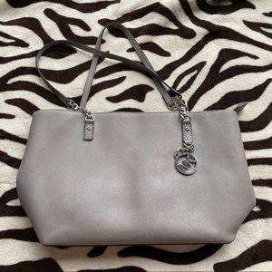 MICHAEL KORS gray purse shoulder bag